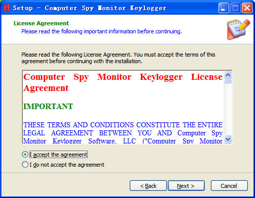 Step2 of Install Keylogger