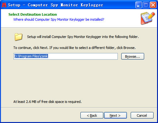 Step3 of Install Keylogger